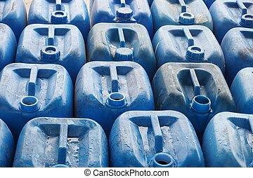 kemikalie slösa, behållare