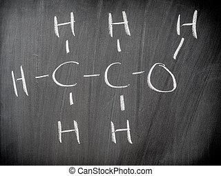 kemisk, formel, etanol