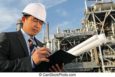 kemisk, industriell, ingenjör