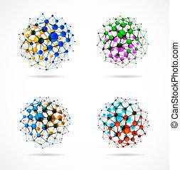kemisk, spheres