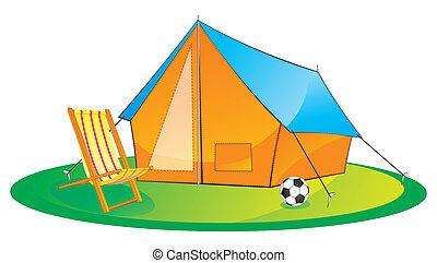 kempingezés sátor