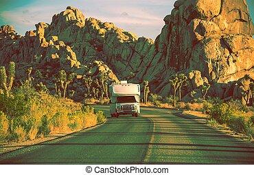 kempingező, kalifornia