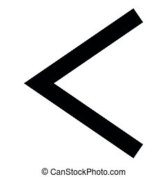 Kenaz rune Kanu symbol ulcer torch icon black color vector illustration flat style image