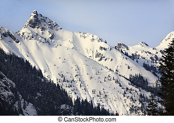 Kendall Peak Snow Mountain Snoqualme Pass Washington