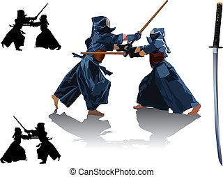 kendo, 戰鬥