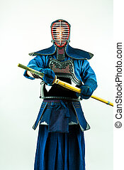 Kendo - Kendoka in full armor.