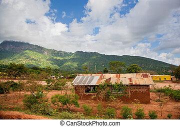 kenia, pobreza, paisaje, meridional