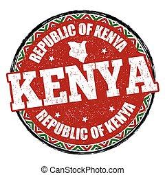kenia, segno, o, francobollo