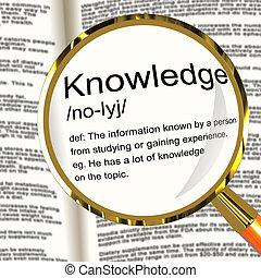 kennis, definitie, vergrootglas, het tonen, informatie,...