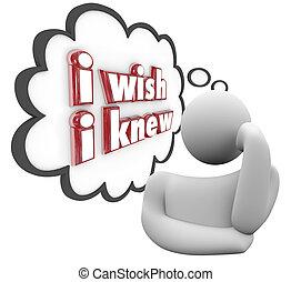 kennis, woorden, wensen, knew, dorst, volgende, gedachte,...