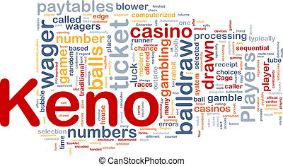 Keno gambling, background concept - Background concept...