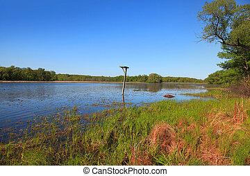Kensington park bird sanctuary in Michigan