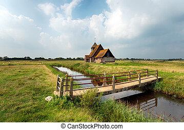 Kent Countryside - The church at Fairfield on Romney Marsh...
