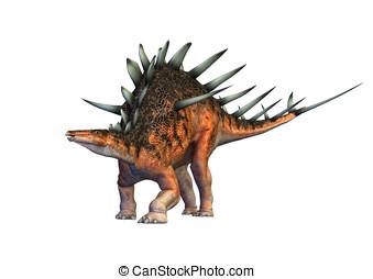 kentrosaurus, dinosaur defending - Kentrosaurus dinsaur...