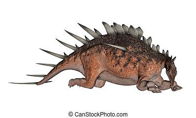 Kentrosaurus dinosaur resting - 3D render - Kentrosaurus...