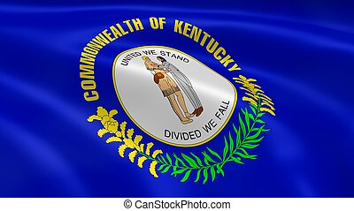Kentuckian flag in the wind