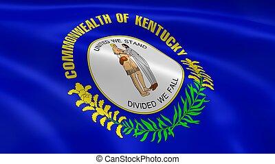 Kentuckian flag in the wind