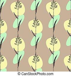 Herbal seamless pattern with hand drawn kentucky bluegrass . Vector swatch
