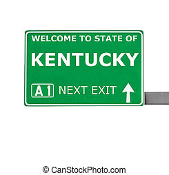 KENTUCKY road sign isolated on white