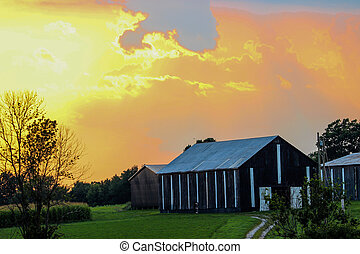 Kentucky Rural Scene After a Storm
