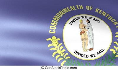 Kentucky State Flag Waving