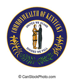 Kentucky state seal - Seal of American state of Kentucky;...