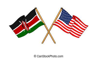 kenya, alliance, amitié, amérique