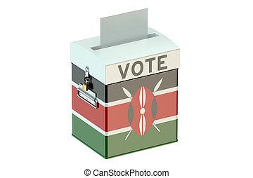Kenya election ballot box for collecting votes - Kenya...