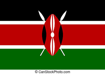 Kenya flag - Sovereign state flag of country of Kenya in...