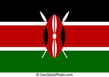 Kenya flag - Sovereign state flag of country of Kenya in...