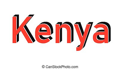 Kenya grunge rubber stamp on white background, vector illustration