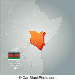 Kenya information map.
