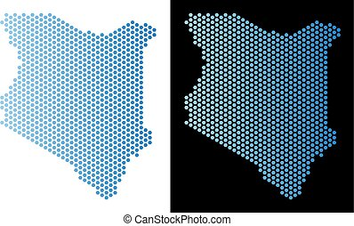 Kenya Map Hexagon Scheme
