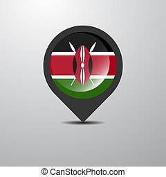 Kenya Map Pin