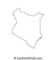 Kenya map silhouette