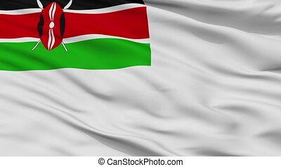 Kenya Naval Ensign Flag Closeup Seamless Loop - Naval Ensign...