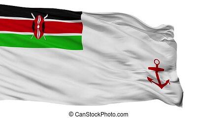 Kenya Naval Ensign Flag Isolated Seamless Loop - Naval...