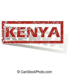 Kenya outlined stamp