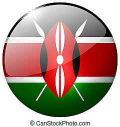 Kenya Round Glass Button