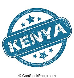 KENYA round stamp