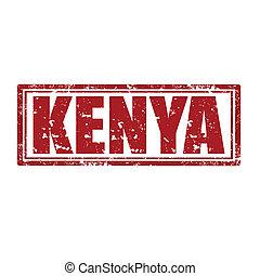 Kenya-stamp - Grunge rubber stamp with word Kenya,vector...