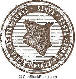 Kenya Vintage Country Stamp for Tourism