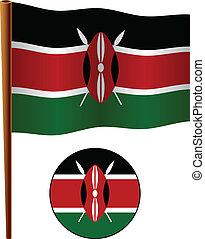 kenya wavy flag