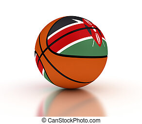 Kenyan Basketball Team (isolated with clipping path)