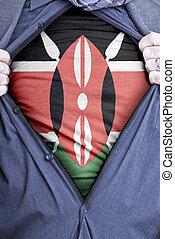 Kenyan Businessman - A Kenyan businessman rips open his...