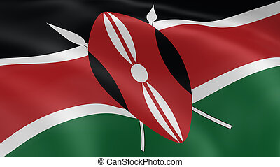 Kenyan flag in the wind. Part of a series.