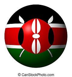 Kenyan flag sphere isolated on white illustration
