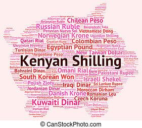 Kenyan Shilling Represents Exchange Rate And Coin - Kenyan...