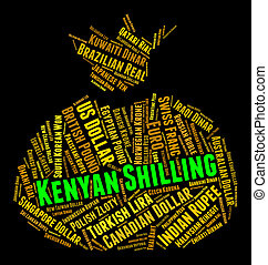 Kenyan Shilling Represents Foreign Currency And Banknote -...