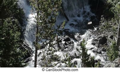 Kepler Cascades, Yellowstone National Park, United States -...